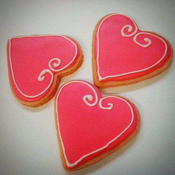 Wowyou  One Dozen 12 pcs. Heart Sugar or by MadameGingerbread