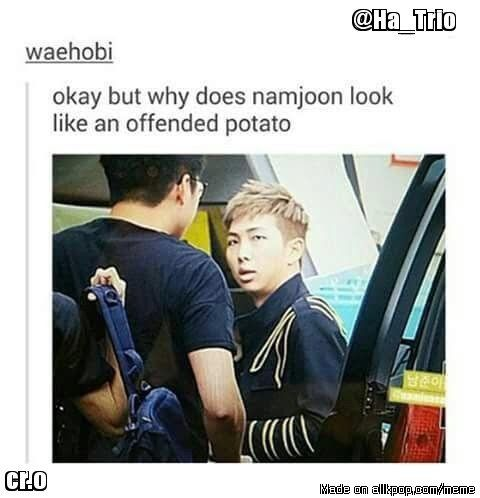 """maybe someone asked him again if """"rap monster was the name his mama gave him""""???// im in history class and trying not to cry laughingXD<< bless this"""