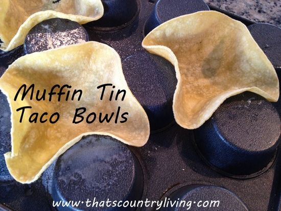 How to Make Taco Bowls from Tortillas - 6 Minutes!