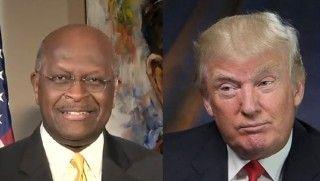 Herman Cain and Donald Trump