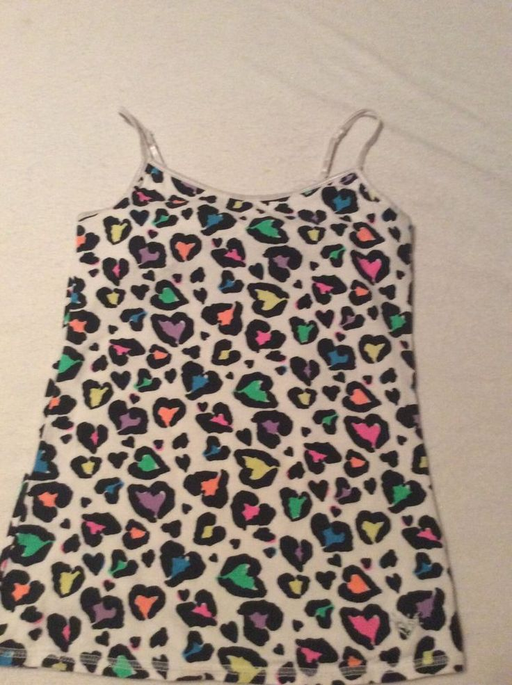 Justice Girls Size 10 Hearts Animal Print Cami Tank Top #Justice #Everyday