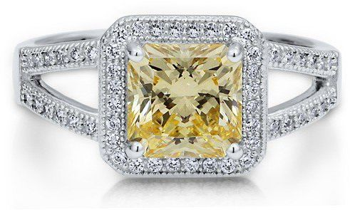 #Berricle                 #ring                     #Sterling #Silver #Princess #Canary #Cubic #Zirconia #Split #Shank #Ring ##r499                         Sterling Silver 925 Princess Canary Cubic Zirconia CZ Split Shank Ring #r499                            http://www.seapai.com/product.aspx?PID=1263629