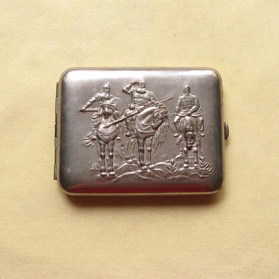 Vintage Cigarette Case Smokers Gifts Art Nouveau Case Men