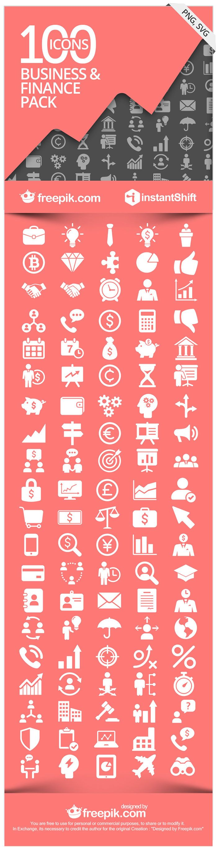 FinBiz - The Free Business & Finance Icon Set via @InstantShift Web Design Magazine Web Design Magazine and @Freepik