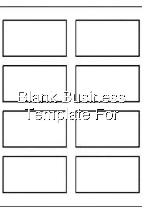 Blank Business Card Template For Word In 2020 Blank Business Cards Printable Business Cards Business Card Template