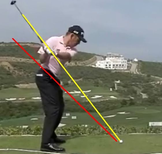 Today I haveanother great article by Jeff Richmond that explains the Hybrid Golf Swing Plane he advocates andteaches. Let's get started... TheHybrid Golf Swing Plane By Jeff Richmond Abig tenant of the one plane golf swing is to return the golf club back to thesame position it was (in terms of the shaft plane line) at address. That's whatMoe Norman and Ben Hogan did. Butlet's see how some of the top golfers in the last 10 years fare as far as thatis concerned. 1. Tiger Woo...