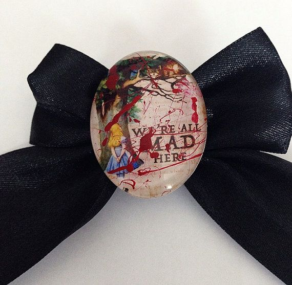 We're All Made Here  Blood Splatter Alice in by TeacupRose on Etsy