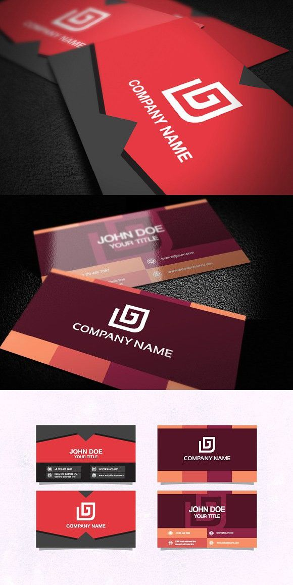 Business Card Template Double Sided Business Card Template Business Cards Elegant Business Cards Design