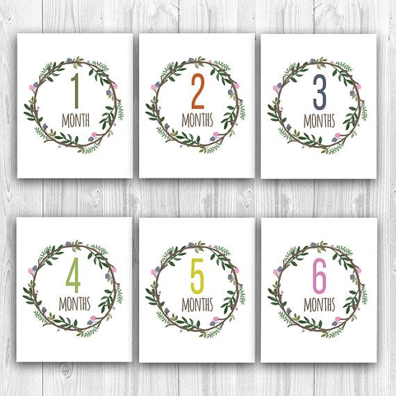 Printable Baby Girl Milestone Cards Instant Download