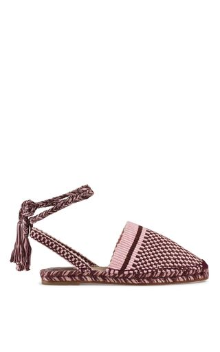 Bohemian Style…   This **Antolina** Rita Espadrille is rendered in woven cotton and features fringed laces.