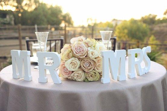 sweetheart table. Cute idea!