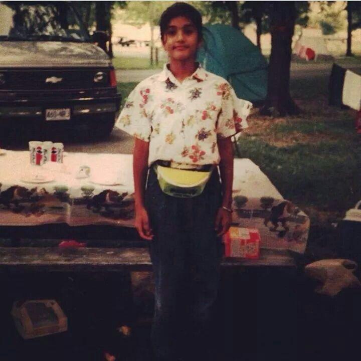 Sunny Leone's childhood foto..via zoom tv