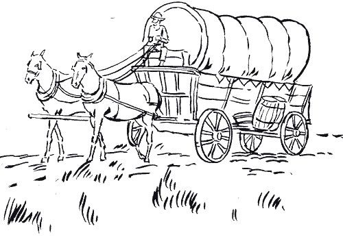 wagon trains coloring pages - photo#3