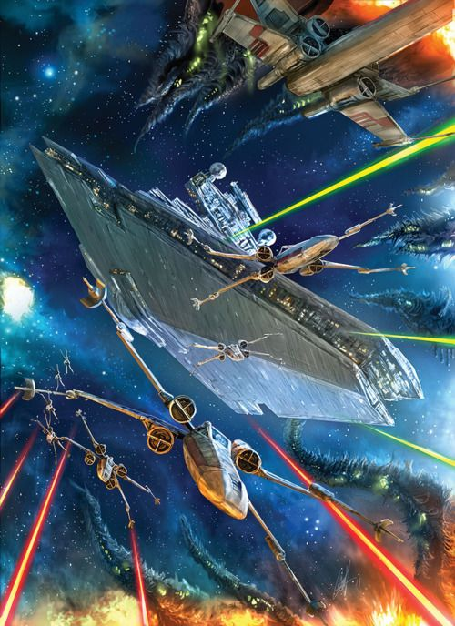 Star Wars art. Fighting the Yuuzhan Vong.