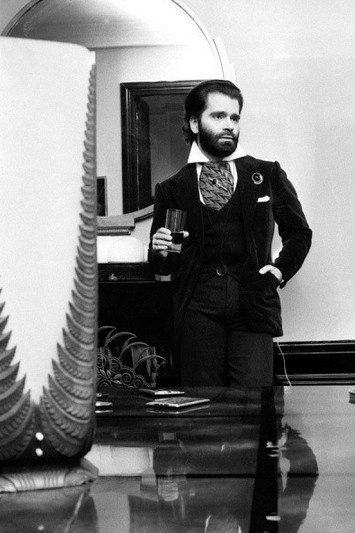 Karl Lagerfeld 1973 #CHANEL #fashion