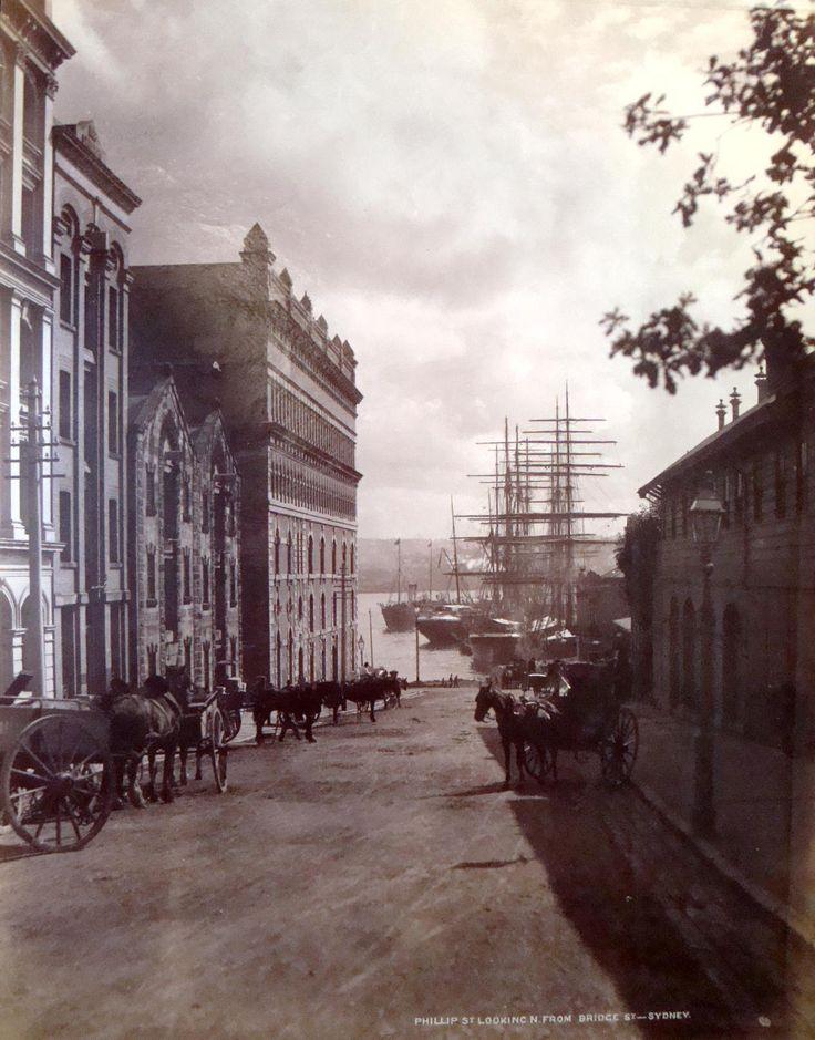Phillip Street,Sydney,Australia c.a. 1900.A♥W