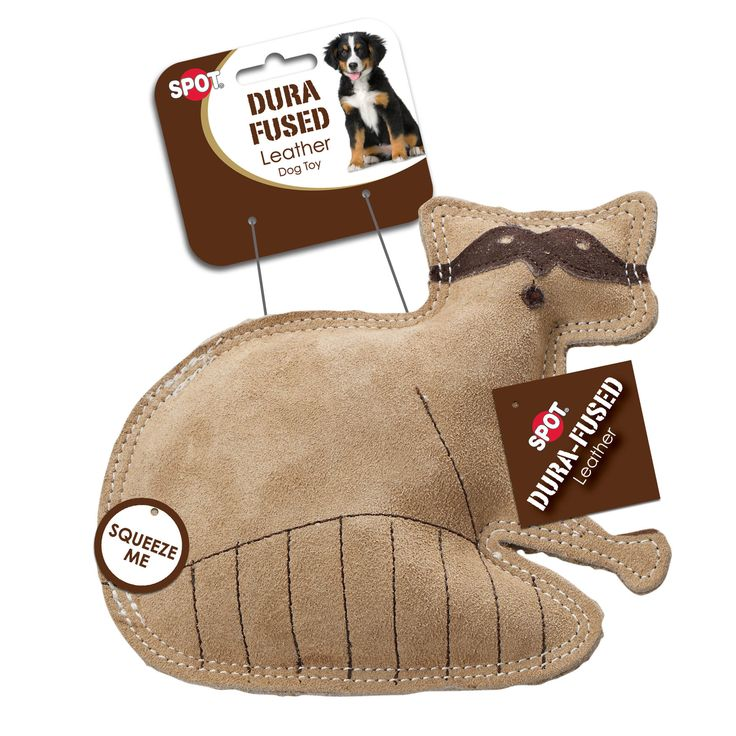 Ethical Products Inc-Dura Fused Leather Raccoon. Perfect for tough chewing dogs…