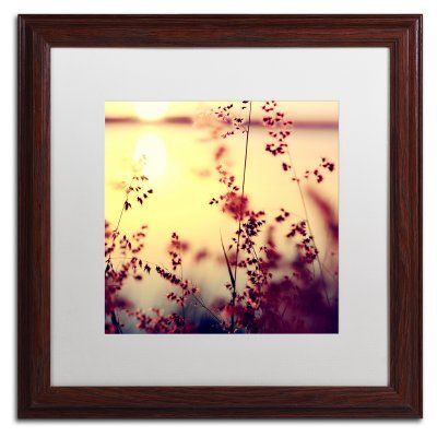 Trademark Fine Art At the End of the Day Framed Art by Beata Czyzowska Young Brown Frame/White Matte - BC0157-W1616MF