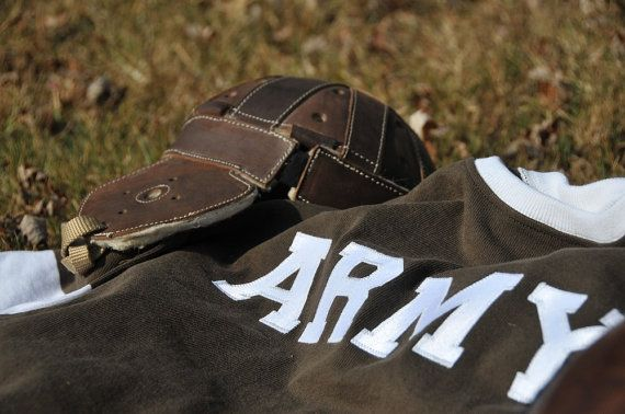 ARMY Football Jersey - Army -  Men's Shirt - Sports Jersey - Vintage Clothing - 1920's Football - WWI - Long Sleeve - Sportswear - Warm