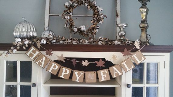 This Happy Fall Banner is such a simple and classic addition to your fall decor and a great message to see daily. *Our banners are made with