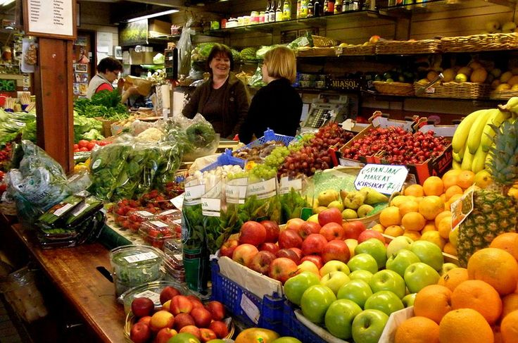Mercado em Helsinque, Finlândia