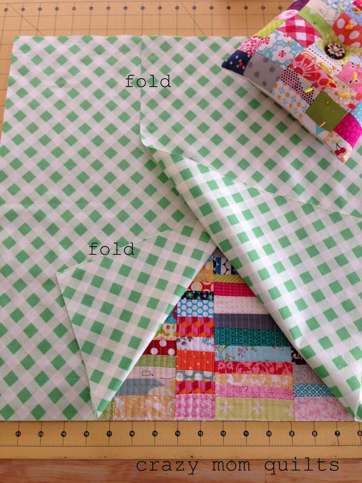 crazy mom quilts: how to make an envelope backed pillow ~ A great tutorial for a simple way to turn small quilting projects into cute pillows!