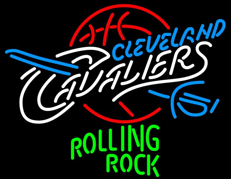 Rolling Rock Cleveland Cavaliers NBA Neon Beer Sign, Rolling Rock with NBA Neon Signs | Beer with Sports Signs. Makes a great gift. High impact, eye catching, real glass tube neon sign. In stock. Ships in 5 days or less. Brand New Indoor Neon Sign. Neon Tube thickness is 9MM. All Neon Signs have 1 year warranty and 0% breakage guarantee.
