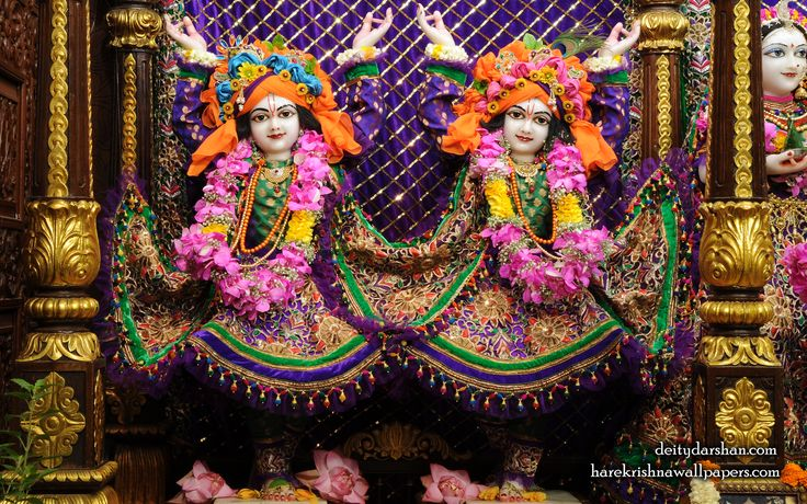 To view Nitai Gaurachandra Wallpaper of ISKCON Chowpatty in difference sizes visit - http://harekrishnawallpapers.com/sri-sri-nitai-gaurachandra-close-up-wallpaper-025/