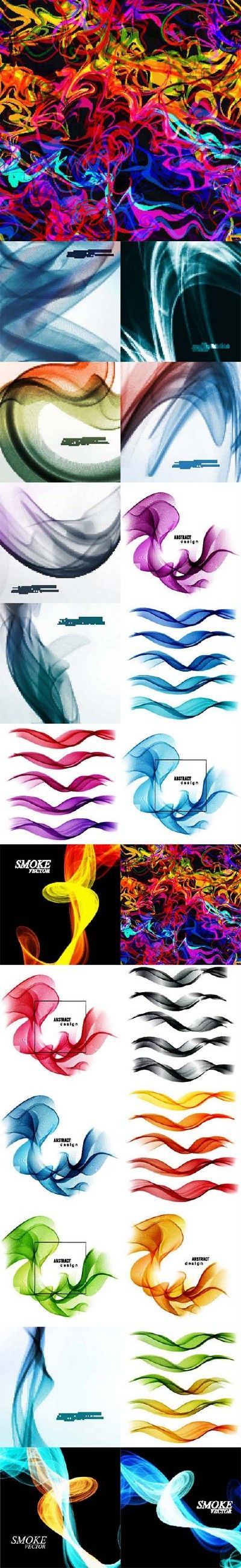 Colorful smoke vector background