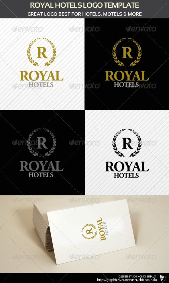 Royal Hotels Logo Template - GraphicRiver Item for Sale