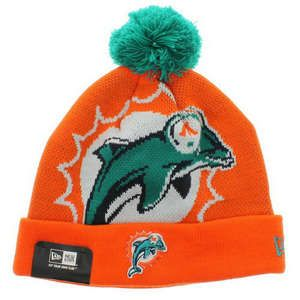 Free Shipping And 60% Discount For Cheap Miami Dolphin hats New Era orange Beanies Sale With Fast Delivery - $8.00 - Beanies - www.fulljerse...