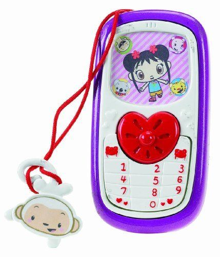Fisher-Price Kai-Lan Cellphone by Fisher-Price. $8.88. Adorable, modern cellphone. Connect with Kai-lan's friends Rintoo, Tolee, Lulu and Hoho. Even learn Mandarin as you play. Cellphone speaks in both English and Mandarin. Connect with your favorite characters by using the Kai-lan and Friends cellphone. From the Manufacturer                Introducing a Kai-lan and Friends cellphone, new in Spring 2009. This adorable stylized cellphone is great for keeping in touch with your fr...