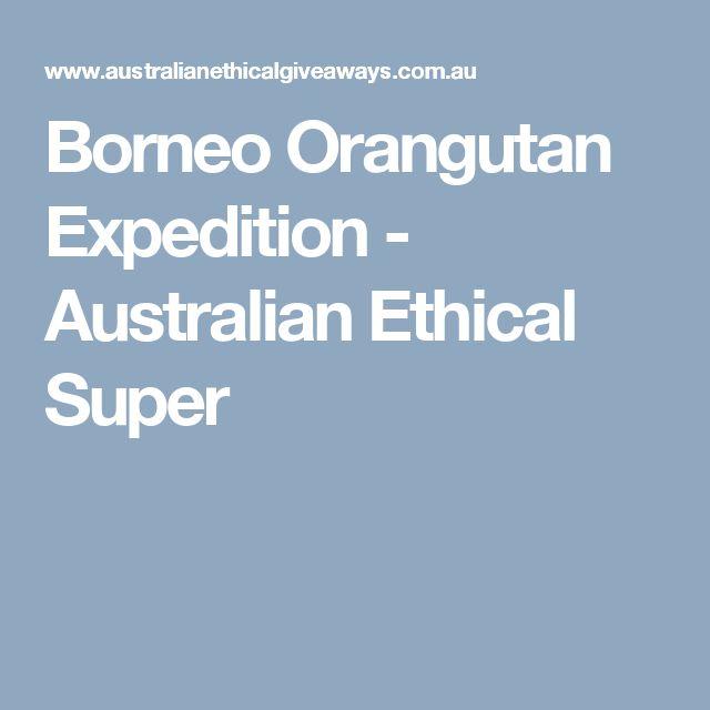 Borneo Orangutan Expedition - Australian Ethical Super