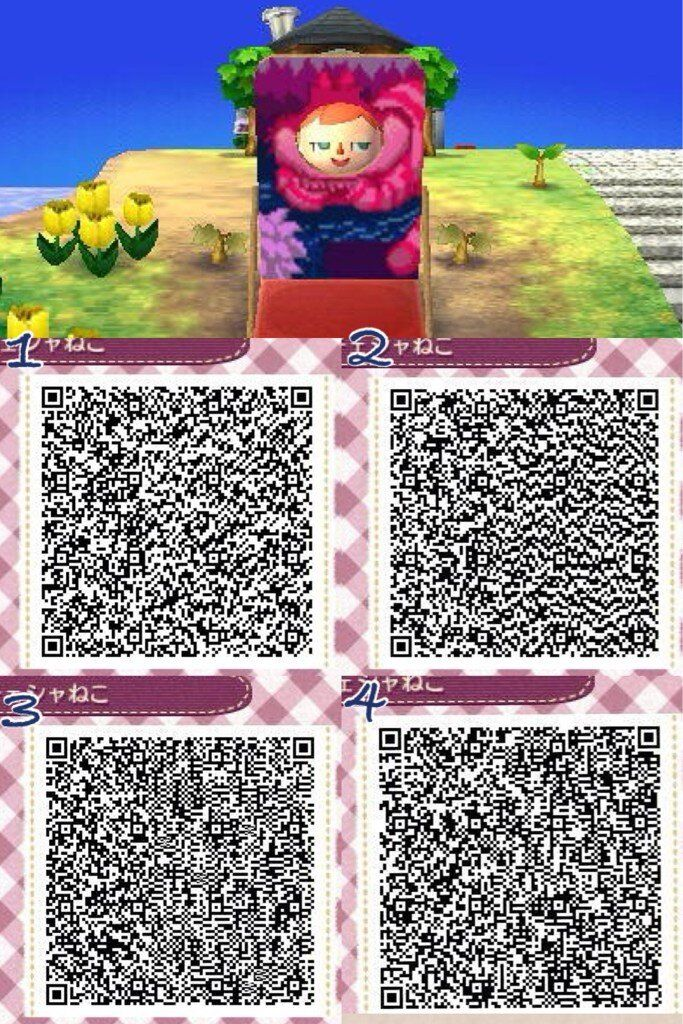 Cheshire Cat Alice in Wonderland Face Board Cut Out Standee ACNL QR Code