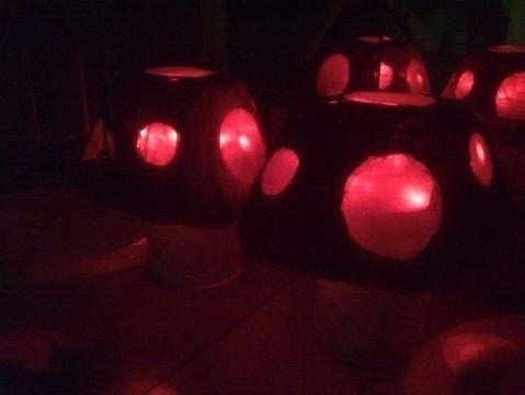 Paper Mache Mushroom Lamp