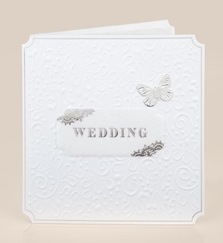 ... white embossed wedding card from marks and spencer from marks spencer