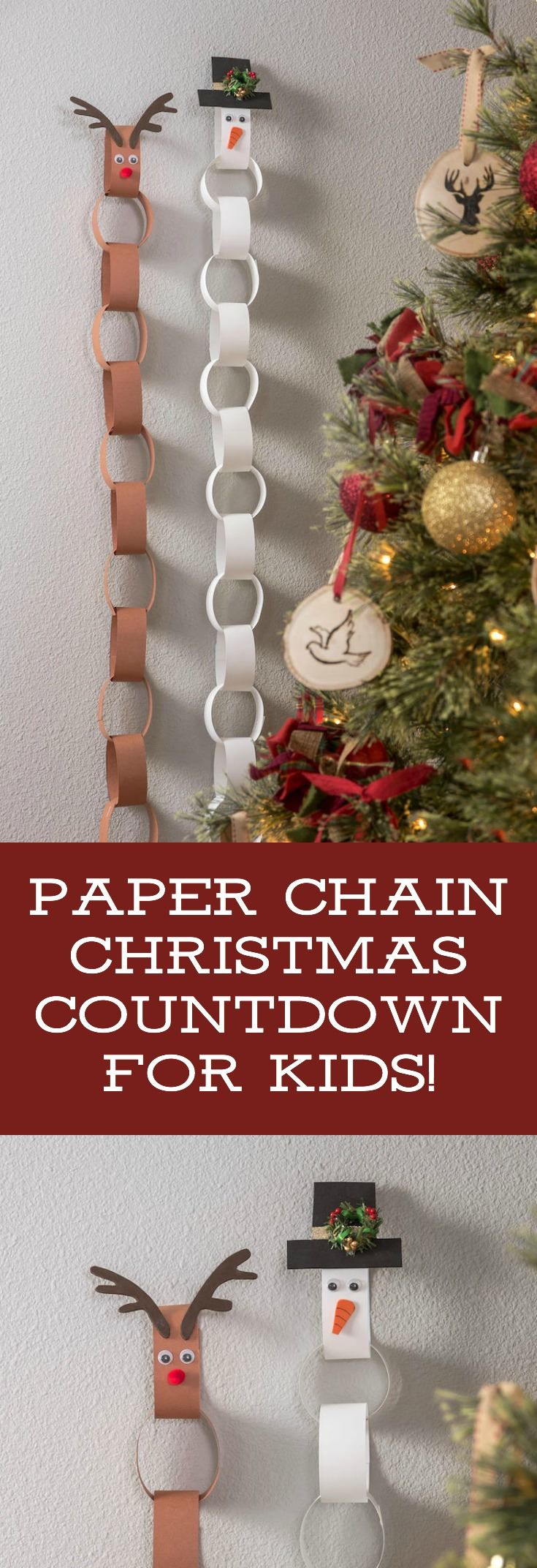 Children can assemble their own easy DIY holiday countdown using this kids advent calendar tutorial! Made from construction paper and candy free. One of those Christmas activities parents and children can do together! via @modpodgerocks
