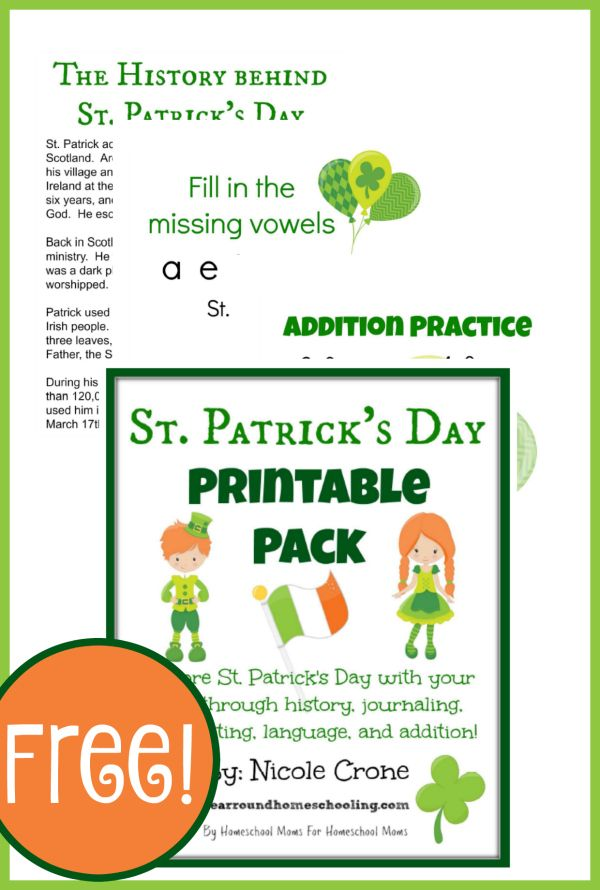Free St. Patrick's Day Learning Pack - Year Round Homeschooling