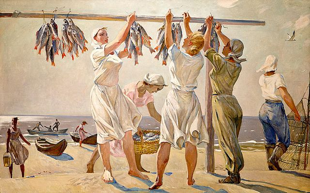BY THE SEA by Alexandr Deyneka (1899~1969)