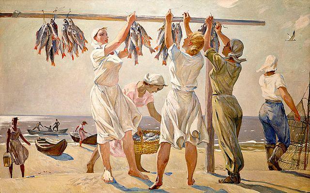BY THE SEA by Alexandr Deyneka (1899~1969)