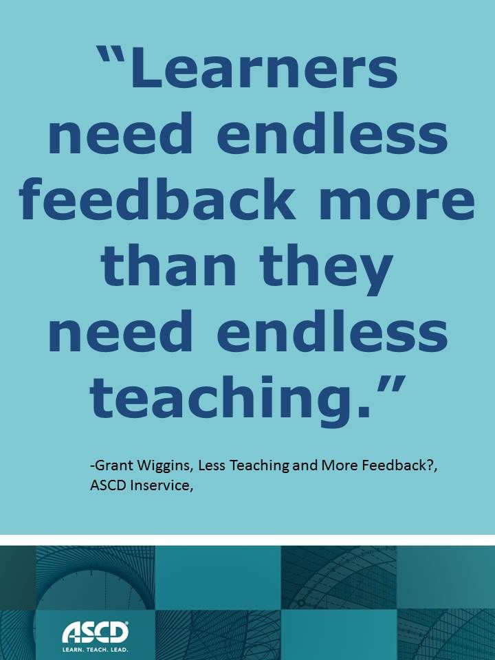 Less Teaching and More Feedback?  from ASCD Inservice