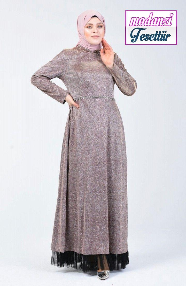 Sefamerve Buyuk Beden Abiye 2020 Buyuk Beden Tasli Simli Abiye Elbise 9018 01 Pudra 2020 Elbise Elbise Modelleri Moda Stilleri
