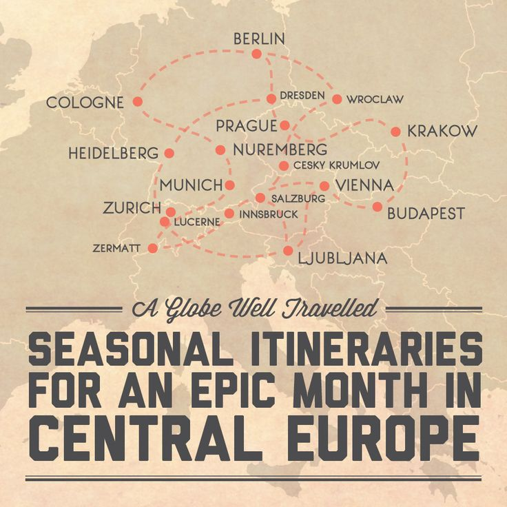 Seasonal itineraries for an epic month in Central Europe / A Globe Well Travelled