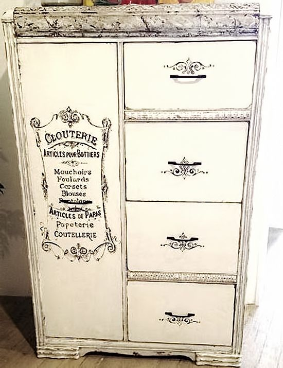 Painted French Armoire - Reader Featured Project....love the drawer accents....
