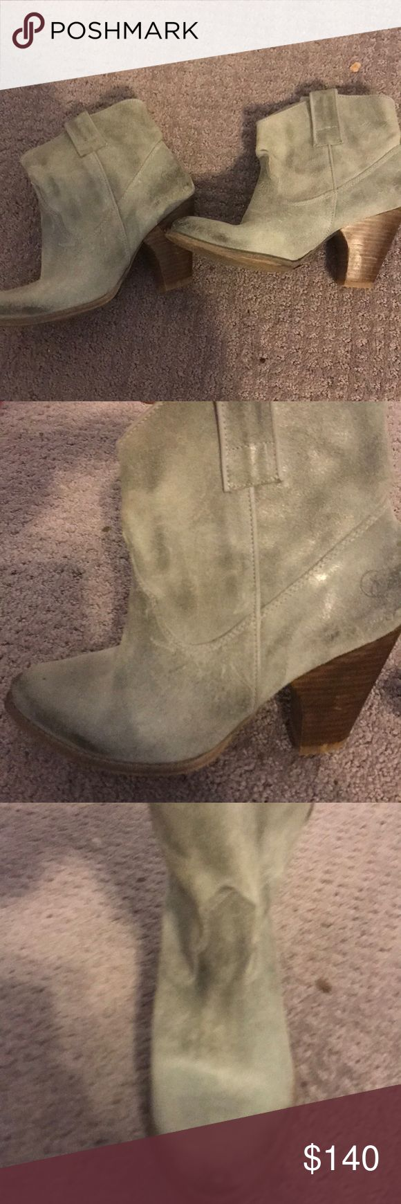 !!LIKE NEW!! Bronx Gray Booties Worn once.  Distressed gray with chunky heel.  Perfect for winter nights out!!  Make me an offer :) Shoes Ankle Boots & Booties