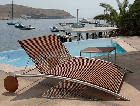 Modern Outdoor Furniture from Beltempo - wood and metal contemporary design