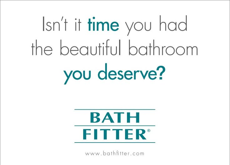 We have the PERFECT solution! We will install a beautiful NEW tub or shower RIGHT OVER your existing one. Our high-gloss surface is easy to clean so you can spend more time enjoying your bathroom and less time cleaning it. But best of all, the JOB IS DONE IN AS LITTLE AS ONE DAY, without disturbing existing tiles, walls or plumbing, so you can enjoy your new space right away, and for years to come! www.bathfitter.com