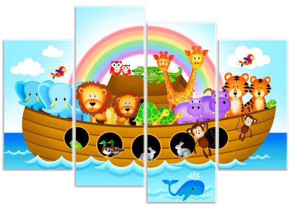 Childrens Noah's Ark Nursery Jungle by RubybloomDesignsLtd
