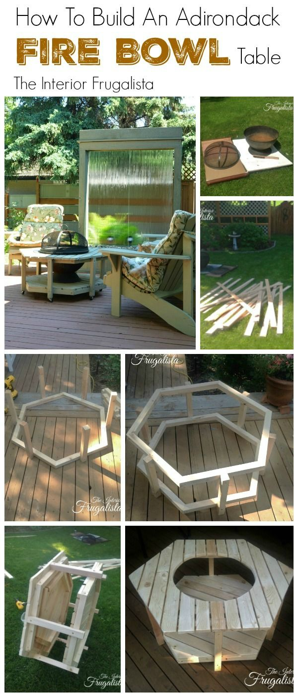 How to build an Adirondack Fire Bowl Table | The Interior Frugalista