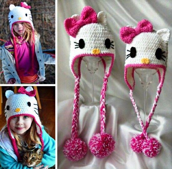 Free Hello Kitty Crochet Hat Pattern Gallery Knitting Patterns